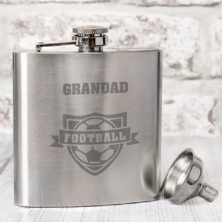 Personalised Hip Flask - Football